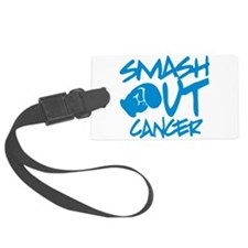 SMASH out Cancer - Electric Blue Luggage Tag