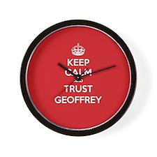 Trust Geoffrey Wall Clock