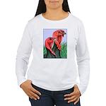 Blue Slate Pair Women's Long Sleeve T-Shirt