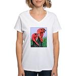 Blue Slate Pair Women's V-Neck T-Shirt