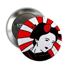 "Geisha Red 2.25"" Button"