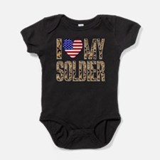 I Love My Soldier Baby Bodysuit