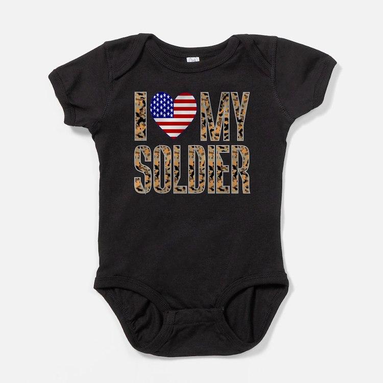 I Love My Soldier Baby Bodysuit