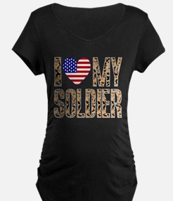 I Love My Soldier Maternity T-Shirt