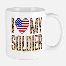 I Love My Soldier Mugs