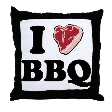 I [heart] BBQ Throw Pillow