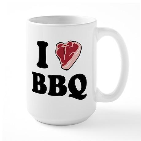 I [heart] BBQ Large Mug