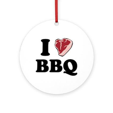 I [heart] BBQ Ornament (Round)