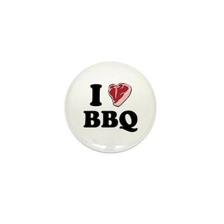 I [heart] BBQ Mini Button (100 pack)