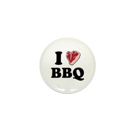 I [heart] BBQ Mini Button