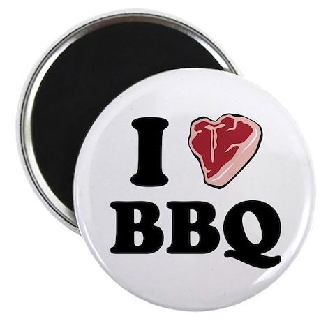 """I [heart] BBQ 2.25"""" Magnet (10 pack)"""