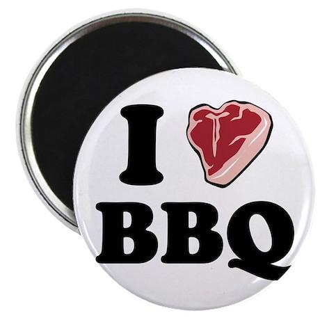 """I [heart] BBQ 2.25"""" Magnet (100 pack)"""
