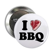 """I [heart] BBQ 2.25"""" Button (100 pack)"""