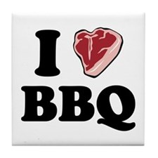 I [heart] BBQ Tile Coaster