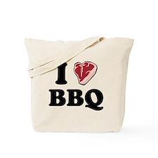 I [heart] BBQ Tote Bag
