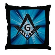 33 Blue Throw Pillow