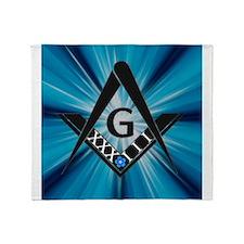 33 Blue Throw Blanket