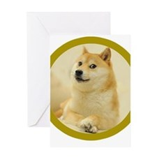 shibe-doge Greeting Cards