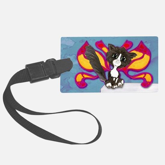 Tuxedo Cat Fairy Luggage Tag