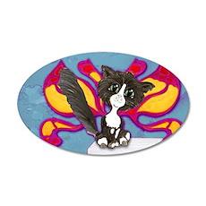 Tuxedo Cat Fairy Wall Decal