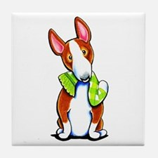 Red Bull Terrier Play Tile Coaster