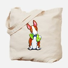 Red Bull Terrier Play Tote Bag