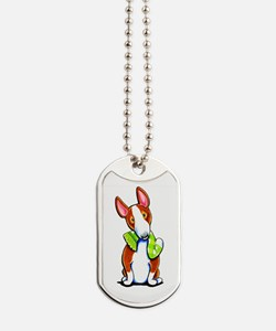 Red Bull Terrier Play Dog Tags