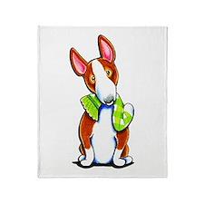 Red Bull Terrier Play Throw Blanket