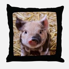 sweet little piglet 2 Throw Pillow