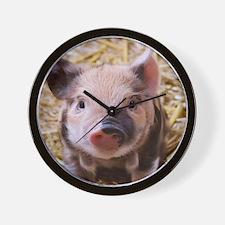 sweet little piglet 2 Wall Clock