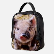 sweet little piglet 2 Neoprene Lunch Bag