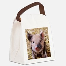 sweet little piglet 2 Canvas Lunch Bag