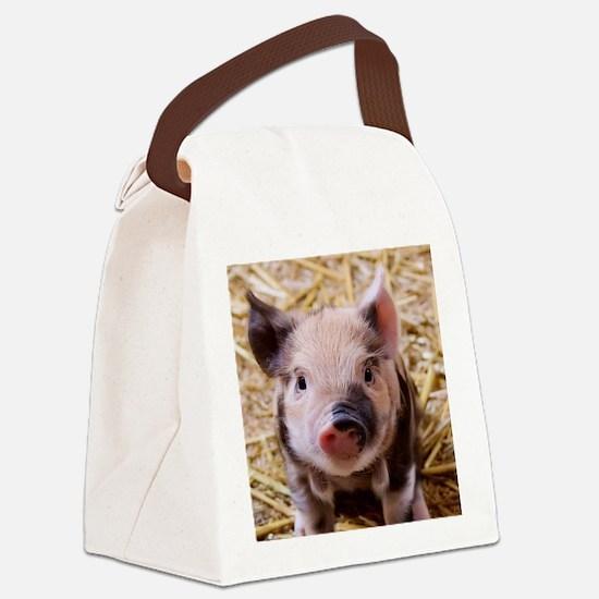 sweet little piglet 2 Canvas Lunch Bag