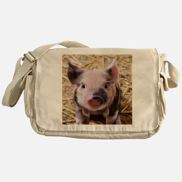 sweet little piglet 2 Messenger Bag