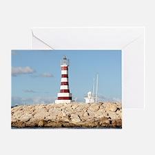 Caribbean Lighthouse Greeting Card