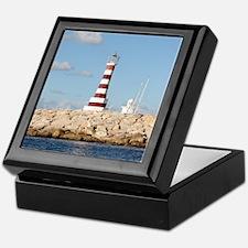 Caribbean Lighthouse Keepsake Box