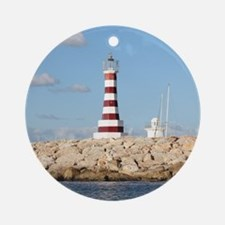 Caribbean Lighthouse Round Ornament