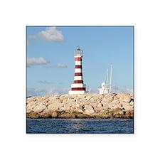 "Caribbean Lighthouse Square Sticker 3"" x 3"""