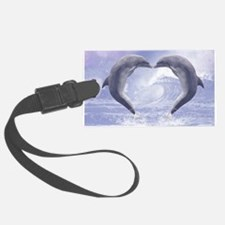 Dolphins Kisses Luggage Tag
