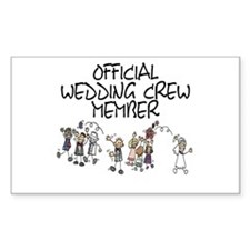 Wedding Crew Rectangle Decal