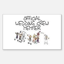 Wedding Crew Rectangle Decal