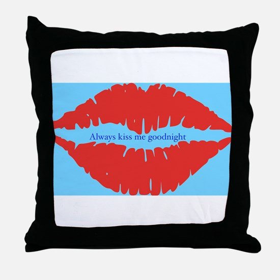 Kiss me goodnight Throw Pillow