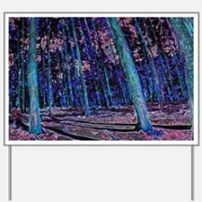 Magic forest purple blue Yard Sign