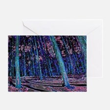 Magic forest purple blue Greeting Card