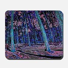 Magic forest purple blue Mousepad