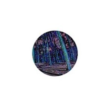 Magic forest purple blue Mini Button