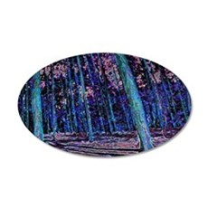 Magic forest purple blue Wall Decal