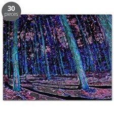 Magic forest purple blue Puzzle