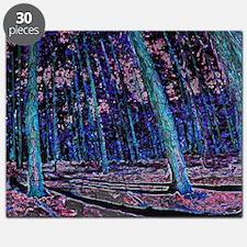 Magic forest purple blue Puzzle