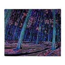 Magic forest purple 2 Throw Blanket